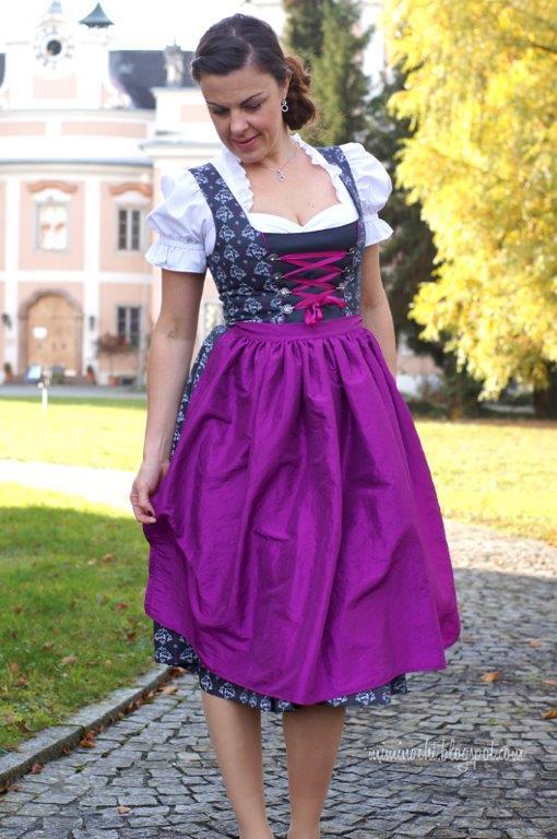 Almvolk lauraundben Stoff Tracht Dirndl Rock Kleid Schürze Mädchen Alm Heidi