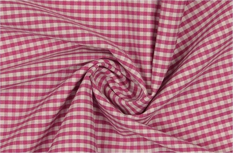 Bild 1 von vichy checked cotton fabric - 3mm - pink - 50 cm