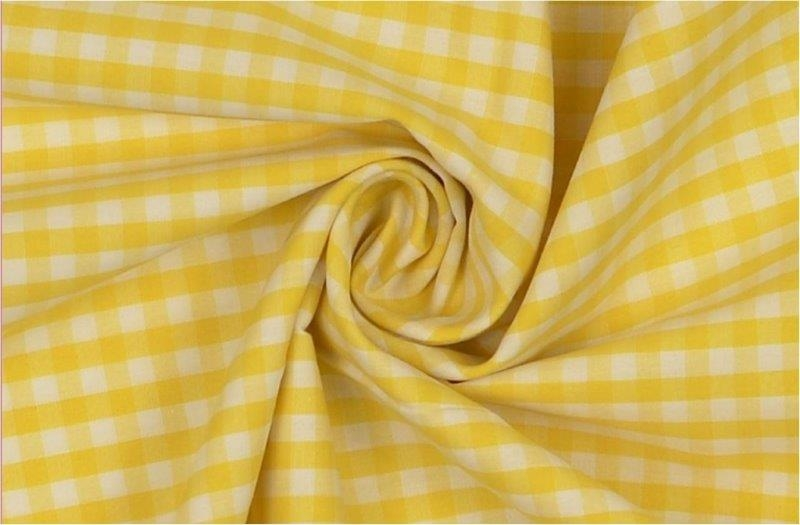 Bild 1 von vichy checked cotton fabric - 5mm - yellow - 50 cm