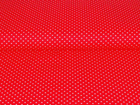 Bild 1 von cotton fabric minidots red 50 cm