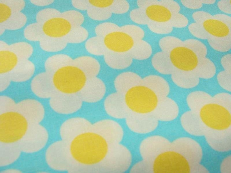 Bild 1 von flower fabric retro - cotton - 50 cm
