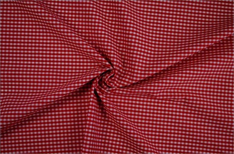 Bild 1 von vichy checked cotton fabric - 3mm - red - 50 cm