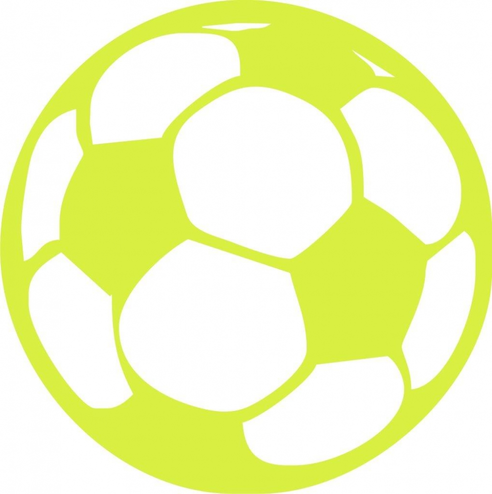 Bild 1 von iron on patch - soccer ball - lime