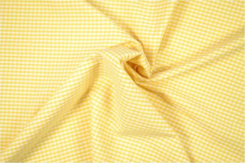 Bild 1 von vichy checked cotton fabric - 3mm - yellow - 50 cm