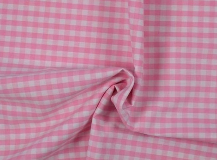 Bild 1 von vichy checked cotton fabric - 5mm - rose - 50 cm