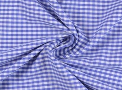 Bild 1 von vichy checked cotton fabric - 5mm - blue - 50 cm