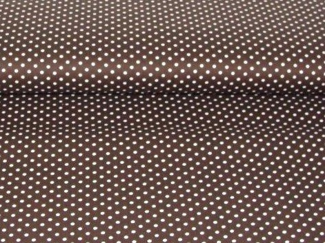 Bild 1 von cotton fabric minidots brown 50 cm