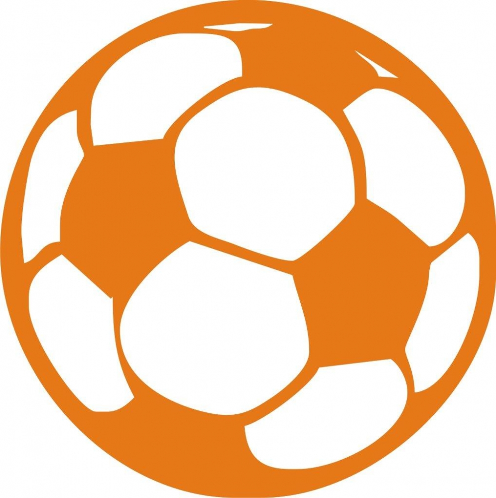 Bild 1 von iron on patch - soccer ball - orange