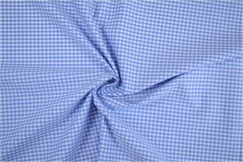 Bild 1 von vichy checked cotton fabric - 3mm - light blue - 50 cm