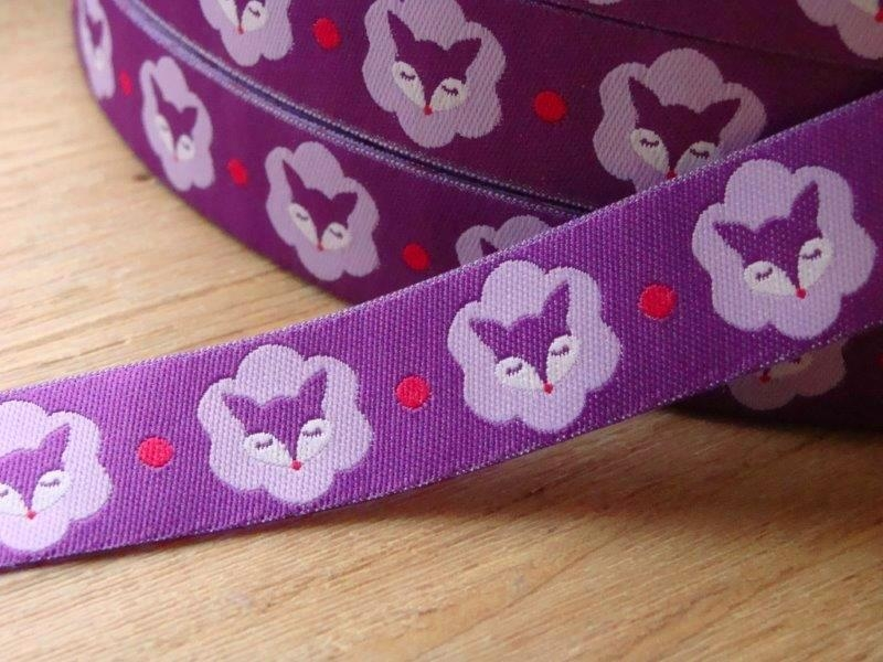 Bild 1 von woven ribbon Mrs Fox purple