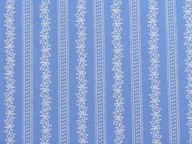 Bild 1 von Dirndl fabric stripes - light blue - 50 cm