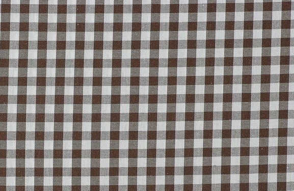 Bild 1 von vichy checked cotton fabric - 5mm - dark brown - 50 cm