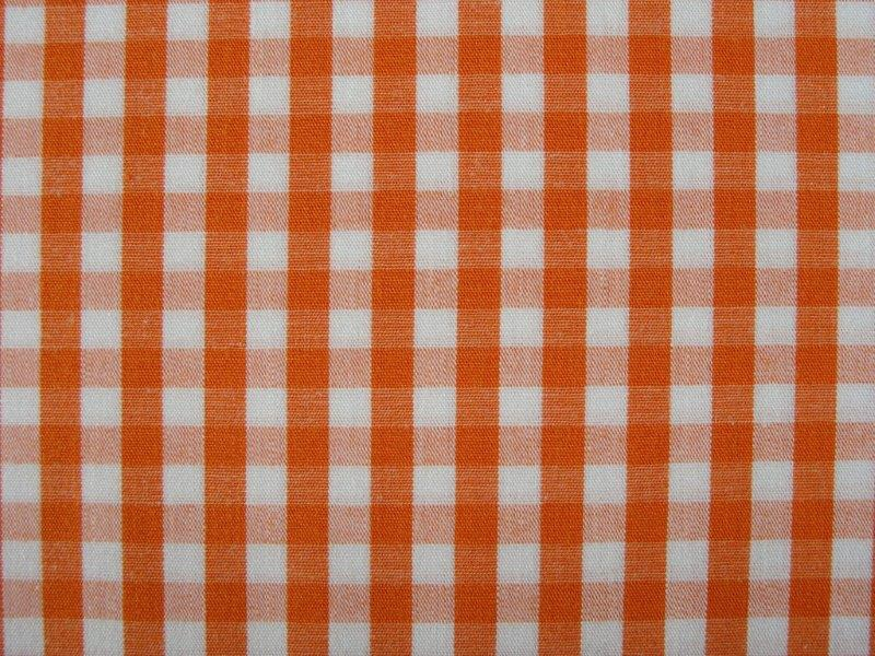 Bild 1 von vichy checked cotton fabric - 5mm - orange - 50 cm