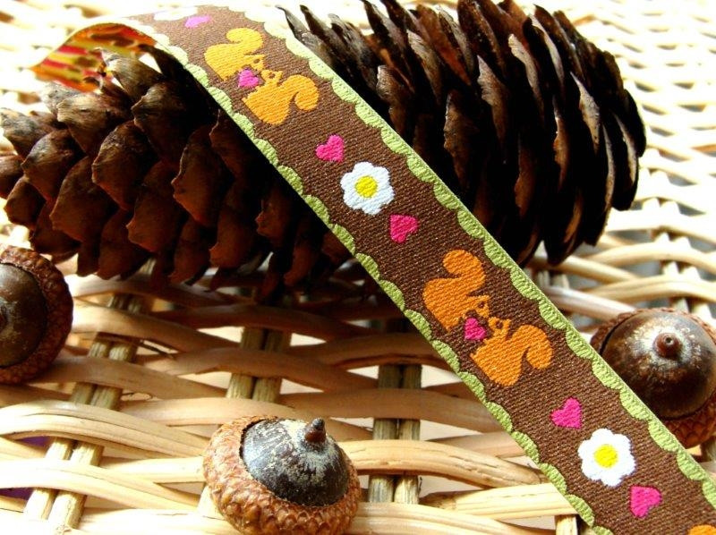 Bild 1 von woven ribbon retro SQUIRREL brown