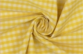 vichy checked cotton fabric - 5mm - yellow - 50 cm
