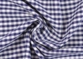 vichy checked cotton fabric - 5mm - dark blue - 50 cm