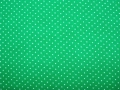 little dots cotton fabric apple green - 50 cm