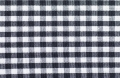vichy checked cotton fabric - 5mm - black - 50 cm