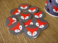 sticker FOX 10 pieces