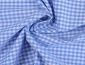 vichy checked cotton fabric - 5mm - sky blue - 50 cm