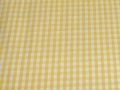 Bild 2 von vichy checked cotton fabric - 3mm - yellow - 50 cm