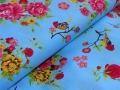 birds and flower cotton fabric - 50 cm