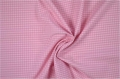 vichy checked cotton fabric - 3mm - rose - 50 cm