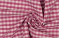 vichy checked cotton fabric - 5mm - pink - 50 cm