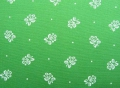 dirndl cotton fabric flowers with dots green - 50 cm