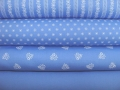 Dirndl fabric set - light blue - 4x50 cm