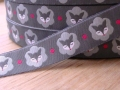 woven ribbon Mrs Fox grey