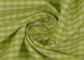 vichy checked cotton fabric - 5mm - light green - 50 cm