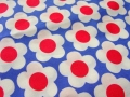 flower fabric retro - cotton - 50 cm