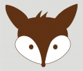 Bild 1 von iron on patch Herr Fuchs - 2 coloured brown/white