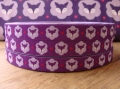 Bild 2 von woven ribbon Mrs Fox purple