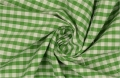 vichy checked cotton fabric - 5mm - gras green - 50 cm