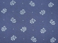dirndl cotton fabric flowers with dots dark blue - 50 cm