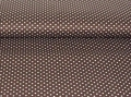 cotton fabric minidots brown 50 cm