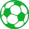 iron on patch - soccer ball - green