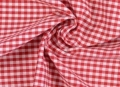 vichy checked cotton fabric - 5mm - red - 50 cm