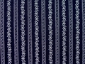 Dirndl fabric stripes - dark blue - 50 cm