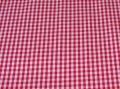 Bild 2 von vichy checked cotton fabric - 3mm - red - 50 cm