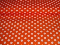 cotton fabric polka dots orange - 50 cm