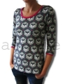 Bild 3 von organic cotton stretchjersey fabric MRS FOX grey - 50 cm