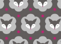 organic cotton stretchjersey fabric MRS FOX grey - 50 cm