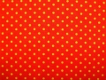 cotton fabric dots orange/yellow- 50 cm
