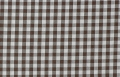 vichy checked cotton fabric - 5mm - dark brown - 50 cm