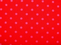 cotton fabric dots red/pink - 50 cm