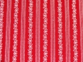 Dirndl fabric stripes - red - 50 cm
