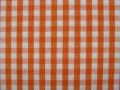 vichy checked cotton fabric - 5mm - orange - 50 cm